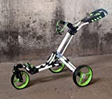 "'golftrolley yorrx® SL Pro 7HAMMA ""Plus, Golf carrello con innovativo 360° Spin ruota anteriore (libero 360° gelagert), incl. ORIG. yorrx Golf asciugamano & Tees, Lime verde / bianco"