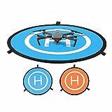 "MyArmor 30""/75cm Diameter Waterproof Fast-Fold RC Helicopter Landing Pad Helipad 2 Sides for RC Drones Helicopter DJI Mavic Pro, Phantom 2/3/4/4 Pro, Inspire 2/1, 3DR Solo, Parrot, Antel Robotic, Syma, Hubsan, Holy Stone, UDI, Blue & Orange"