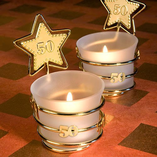 (20 Gold Star Design 50Th Anniversary Celebration Favors by Fashioncraft)