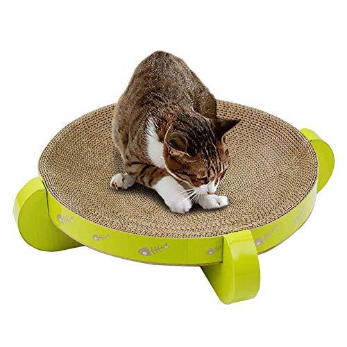 PETAMANIM Corrugate Scratcher Karton Spielzeug Katze Bett Katze Scratch Board, Katze Spielzeug Multi-Effekt eine, Runde Design Cat Toy Cat Scratchboard (35 x 35 x 10CM)
