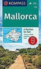 Mallorca: 4 Wanderkarten 1:35000 im Set inklusive Karte zur offline Verwendung in der KOMPASS-App. Fahrradfahren. (KOMPASS-Wanderkarten, Band 2230)