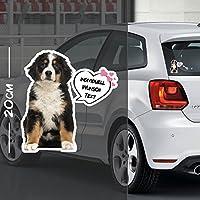 Hunde Aufkleber Motiv #8 | Druck & Cut mit oder ohne Laminat | Individuell mit Wunschtext