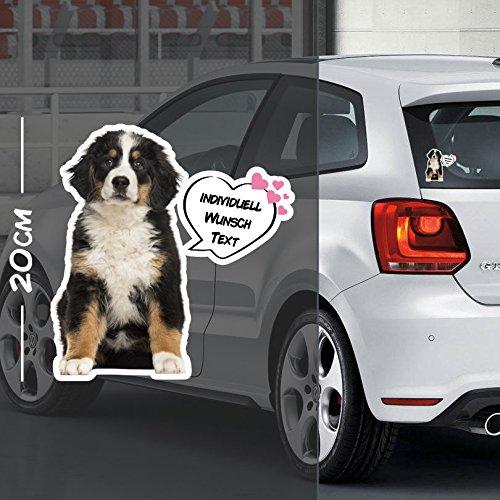 Hunde Aufkleber Motiv #8   Druck & Cut mit oder ohne Laminat   Individuell mit Wunschtext
