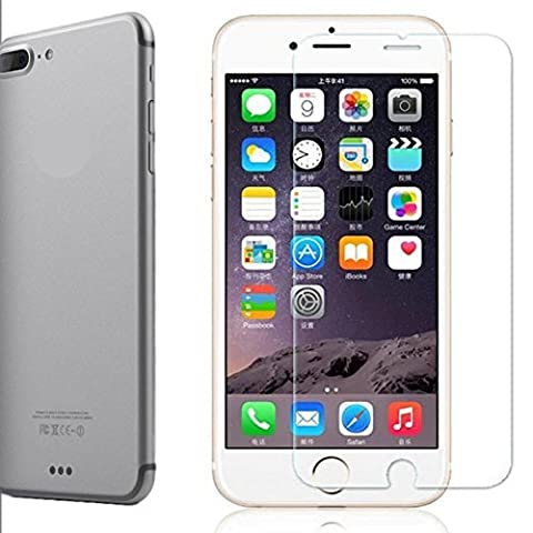 iPhone 7 Plus Screen Protector [Tempered Glass] by CUVR With Case Friendly Rounded Edge for Apple iPhone 7 Plus, 6 Plus and 6S Plus.