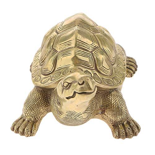 Maskottchen Turtle Schildkröte Statue Glücksbringer Fengshui Dekoration für Haus Büro - L ()