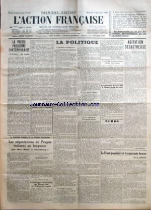ACTION FRANCAISE (L') [No 247] du 04/09/1938 -...