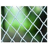 Sicherheitsseilnetz, 3×7M Tunnelkletternetz Kinderhaustier-Balkontreppennetz Dekoratives Wandnetz Gartenzaunnetz Nylon-Webseilnetz Trampolin-Konstruktionssicherheitsnetz Farbe: Weiß (Size : 1 * 1M)