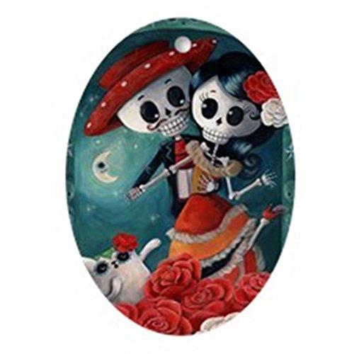 CafePress–Dia de los Muertos mexikanischen Schmuck Liebhaber (Oval)–oval Urlaub Weihnachten - Eigenen Hause Sie Zu Ihre Halloween-dekorationen Machen