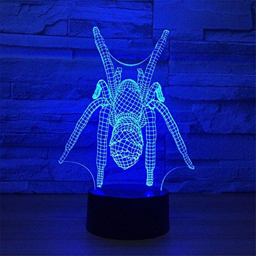 USB Angetrieben Fly-flap 3D Fernbedienung ILLusion Nachtlicht Atemberaubende visuelle Farben Tisch Schreibtisch optische Lampe Schlafzimmer Kinderzimmer dekorative Haushalts Nachtlicht Spielzeug Urlaub Geschenke (Flap-kabel)