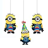 PARTY PROPZ MINION CEILING HANGING 3PCS/...