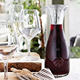 Bormioli Rocco 184179538 Misura Weinkaraffe, mit Füllstrich bei 1l, Glas, transparent, 1 Stück - 5