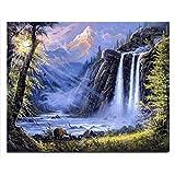 Wasserfall neuen Hand quatratisch Bohrer DIY Kreuzstich Stickerei Diamant Mosaik 20 * 25cm