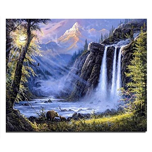 Waterfall new needlework full square drill diy cross stitch diamond embroidery mosaic 20*25CM