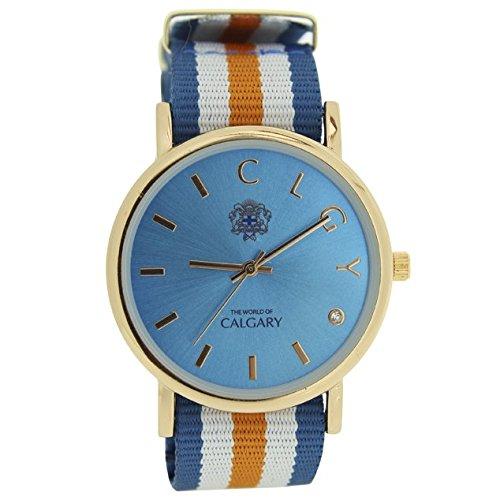 relojes-calgary-palm-beach-esfera-azul-turquesa-con-correa-a-rayas-naranja-azul-y-blanco