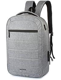 "Novex Anti Theft Grey 15.6"" Laptop Backpack"