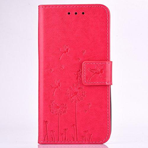 Huawei Y5 II / Y5 2 Rote Leder Handyhülle, Huawei Y5 II...