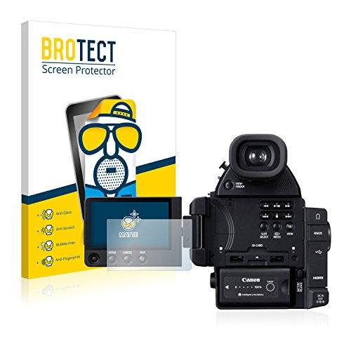 Canon Eos C100 Kamera Cinema (2x BROTECT Displayschutzfolie für Canon Cinema EOS C100 Mark II Schutzfolie - Entspiegelt, Anti-Fingerprint)