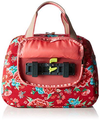 Basil Elegance Carry Borsa, Rosa/Grigio rosso scarlatto