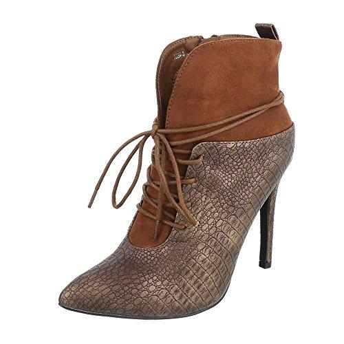 Ital-Design, Bottes pour Femme Camel 3534-3