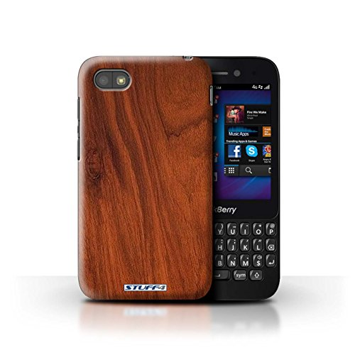 Stuff4® Hülle/Hülle für BlackBerry Q5 / Mahagoni Muster/Holz/Holzmaserung Muster Kollektion