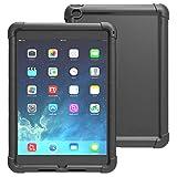 IPad Air 2 Hülle - Poetic iPad Air 2 Hülle [Turtle Series] - [Corner / Bumper Schutz] [Grip] [Sound-Amplification] schützende Silikonhülle für Apple iPad Air 2 Schwarz (3 Jahre Herstellergarantie von Poetic)