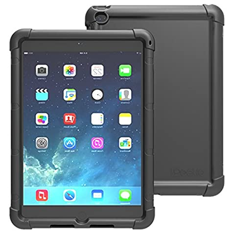 Étui iPad Air 2 - Poetic [Série Turtle Skin] Étui Apple iPad Air 2 [Protection Avant/Au Coin] [Adhérence] [Amplification du Son] Étui Protecteur en Silicone pour Apple iPad Air 2 Noir (Garantie de 3 Ans du Manufacturier de Poetic)