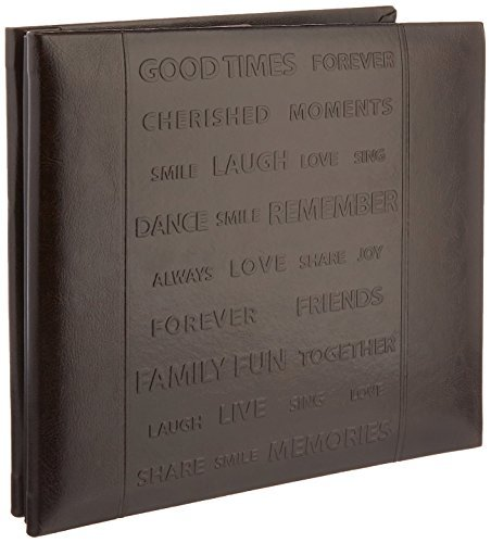Pioneer Photo Albums Scrapbook with Embossed Words on The Front Cover, 8 x 8, 10 Sheets by Pioneer Photo Albums (Pioneer 8x8 Scrapbook Album)