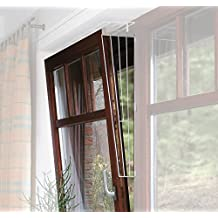 65 /× 16 cm Trixie 4417 Schutzgitter f/ür Fenster wei/ß eckig