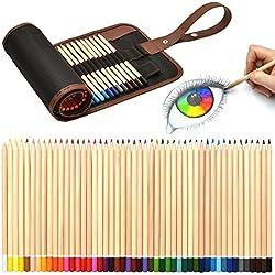 Artina Set de lápices de Colores Torino 49 Piezas en Estuche Enrollable - Lápices de Dibujo para Pintar y esbozos fantástico