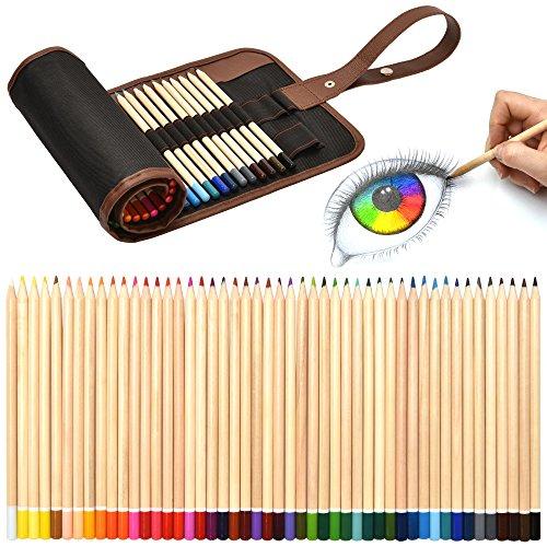 Artina Matite Colorate in Set da 49 unità Serie Torino - Kit Disegno in Pratico Astuccio portamatite pastelli e Penne