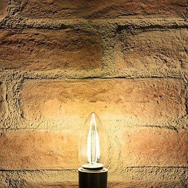FDH E26/E27 LED bombillas de filamento C35 COB 400 lm / regulable blanca cálida decorativa 220-240 V CA