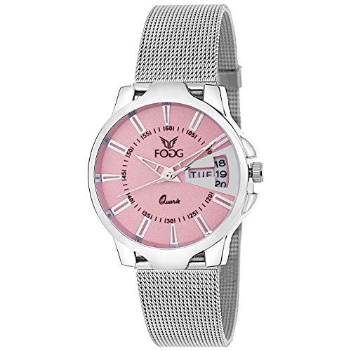 Fogg Analog Pink Dial Women\'s Watch 4047-PK