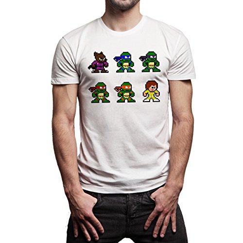 Pixels-Turtle-Ninja-Layer-0.jpg Herren T-Shirt Weiß