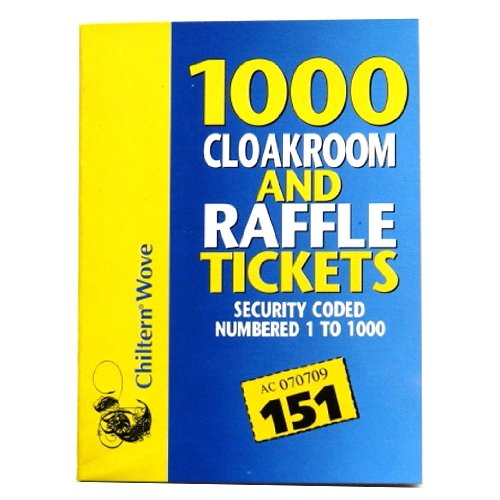 Stationary KC4306, 159gm, 1000 Cloakroom and Raffle Tickets (One Pack)