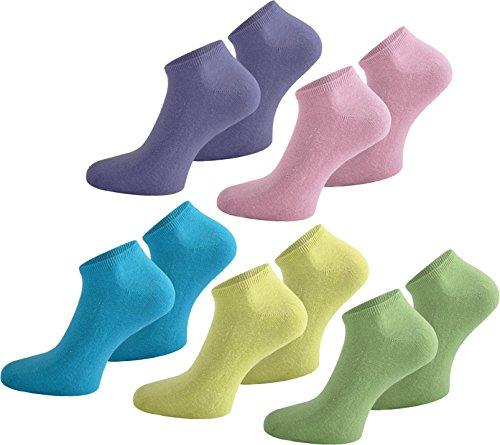Herren-usa 10 (10 Paar USA Sneakers Sneakersocken Sneaker Socken für Damen Herren und Teenager | verschiedenen Farben zur Auswahl Farbe Türkis/Gelb/Grün/Lila/Rosa Größe 43/47)