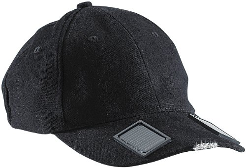 infactory Schirmmütze: LED-Baseball-Cap mit Solarspeicher (Caps)