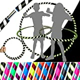 KID's HULA HOOPS - Quality Weighted Children's Hula Hoops! Great For Exercise, Dance, Fitness & FUN! NO Instructions needed! Same Day Dispatch.! (Glow In The Dark)