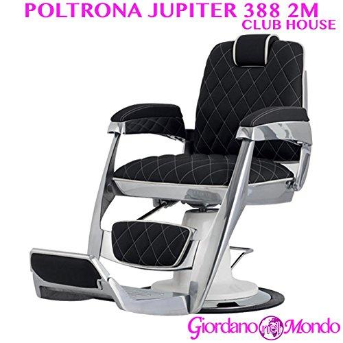 Poltrona barbiere con schienale reclinabile e girevole 388 club arredamento ceriotti