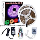 LED Band 10m Sparke 5050 300led LED Streifen Licht RGB LED Strip Stripe Kit mit Netzteil 12V und Musik Fernbedienung LED Streifen für Feiertage Haushalt Küche Auto Dekoration