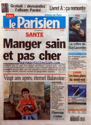 Hommage A Balavoine - PARISIEN (LE) [No 19083] du 14/01/2006 -