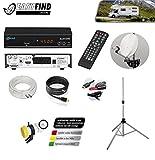 COMAG Digitale HDTV Mini-Sat-Anlage Komplett-Set MDS 60 Easy Find inkl. Stativ-Ständer 150cm