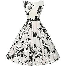 Vestidos largos mujer, Amlaiworld Vestidos de verano de mujer Sexy Vestido de fiesta de noche casual sin mangas floral Bodycon Vintage de mujeres falda vestidos para bodas largos