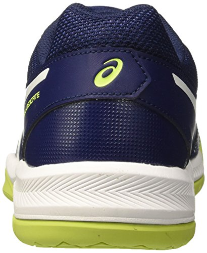 Asics Gel-Dedicate 5, Chaussures de Gymnastique Homme Bleu (Indigo Blue/white/safety Yellow)