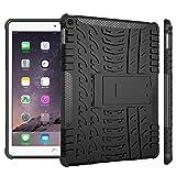 WindCase iPad Air 2 Hülle, Outdoor Dual Layer Armor Tasche Heavy Duty Defender Schutzhülle mit Ständer Case für iPad Air 2 (iPad 6) Schwarz