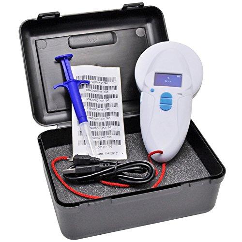 VOSS.PET Chiplesegerät RFID inklusive Transponder Tierkennzeichnung Chip Chipleser Reader Rfidreader USB Mini Mikrochip Tierchip Tiertransponderleser Mikrochiplesegerät RFID-reader