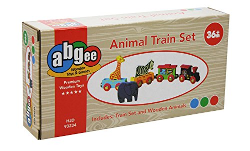 A B Gee HJD93234 Wooden Animal Train Toy