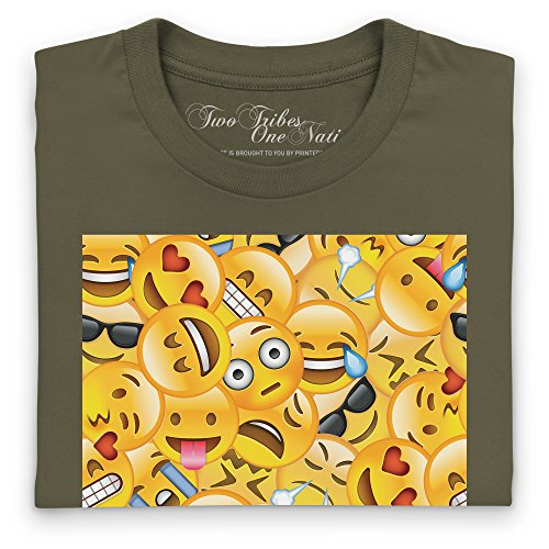 Official Two Tribes Emoji - Big Faces T-Shirt, Herren Olivgrn