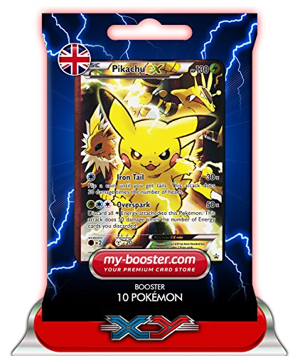 PIKACHU EX FULL ART XY124 130HP XY11 - Booster de 10 cartes Pokemon anglaises my-booster