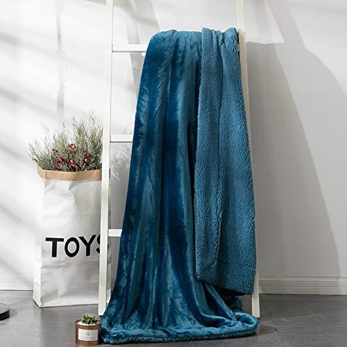 YUMUO Flanell Decke, Volltonfarbe Velvet Twin Size Die Ganze Saison Leicht,Falten-resistente Decke Für Zuhause Schlafzimmer -b 200x230cm(79x91inch)