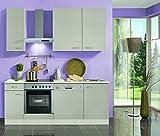 Küchenblock mit Geschirrspüler und Glaskeramikkochfeld Como 210 cm in Pinie Nachbildung